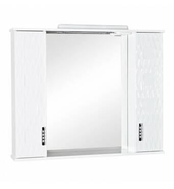 Зеркало с подстветкой Ассоль 100 см с пеналами