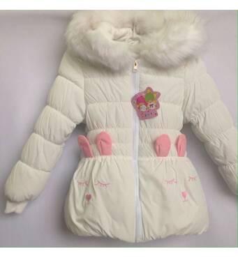 Куртка детская демисезонная утеплённая для девочки оптом 2-4 года белая