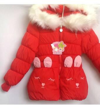 Куртка детская демисезонная утеплённая для девочки оптом 2-4 года красная