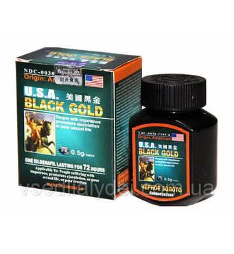 """""""Black Gold"""" (Чорне золото) - пігулки для підвищення потенції (16 шт) ."""