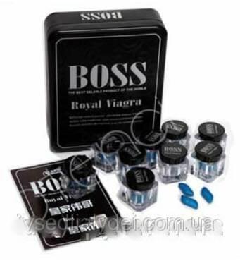 """Пробники королівська віагра бос """"boss royal viagra"""" віагра для потенції 3 пігулок в пляшечці"""