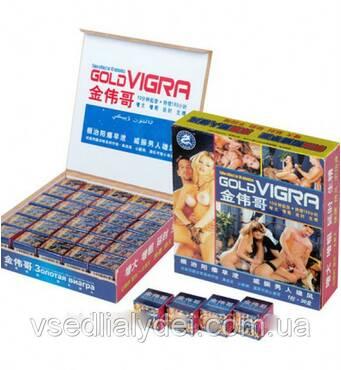 Пробники Gold Viagra Голд Віагра Золота віагра капсули для підвищення потенції