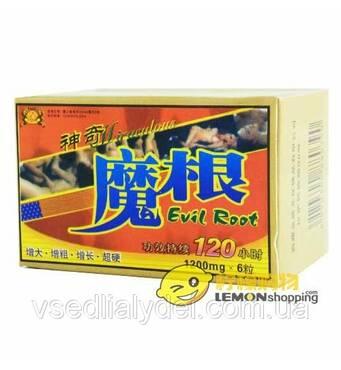 Evil Root Ивл Рут сильнейший препарат для повышения потенции 6 таблеток упаковка