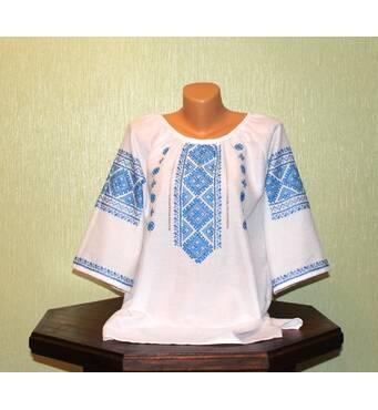 Женская рубашка-вышиванка с коротким рукавом ручной работы