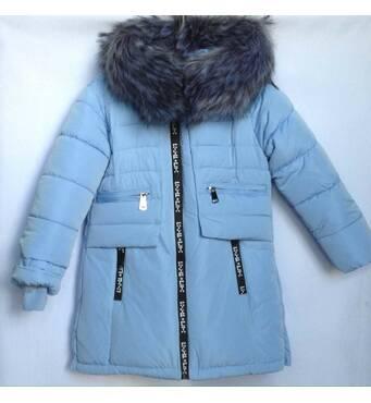 Дитяча зимова куртка для дівчинки оптом 116-140