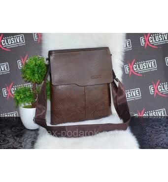 Чоловіча коричнева сумка.