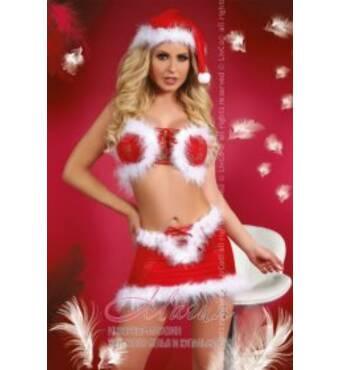 Топ з шапочкою, спідничкою і стрингами Christmas Lust LC
