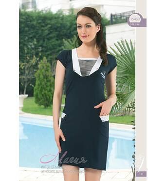 Строгое домашнее платьице с воротничком