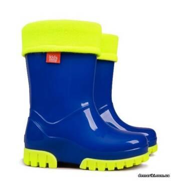 Гумові чоботи DEMAR TWISTER FLUO a (Сині), 20-27, купити в Запоріжжі