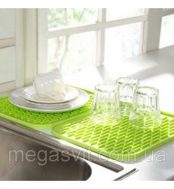 Силиконовый коврик для сушки посуды 21х15 см