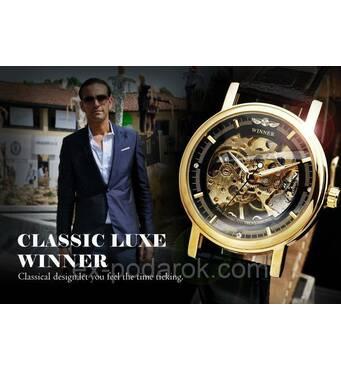 Чоловічий механічний годинник скелетон Winner Skeleton.