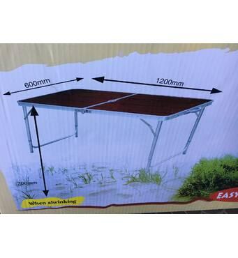 Набор стол и 4 стула для пикника темный