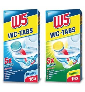 Таблетки для чистки унітаза W5 WC-Tabs 16 шт Лимон