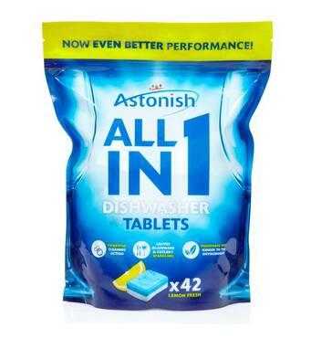 Концентрированные моющие таблетки Astonish all in 1 42 таблетки