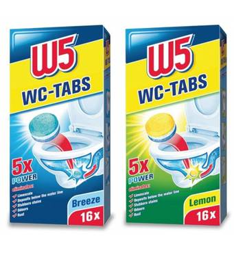 Таблетки для чистки унитаза W5 WC-Tabs 16 шт Морская свежесть