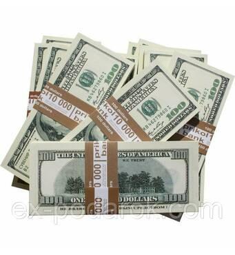 Подарочные деньги 100 баксов.