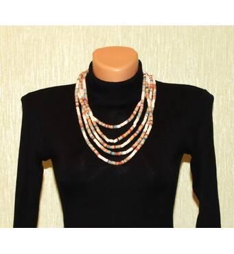 Ожерелье глиняное разноцветное