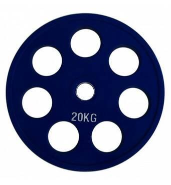 RCP19 - 20 Alex Кольоровий диск олімпійський обгумований, 20 кг