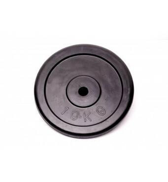 Диск домашній обгумований чорний RCP10 - 10 кг (26 мм)