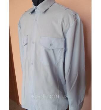 Рубашка   форменная мужская прямого кроя с длинным рукавом  с системой для крепления погонов  52-54/6