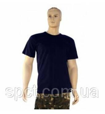 Футболка однотонная мужская синего цвета, 100% х/б