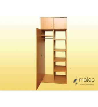 Шкаф для одежды и книг, полузакрытый 1-дверный
