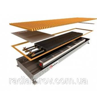 Внутрипольные конвекторы Polvax KV.160.1250.180 с вентилятором