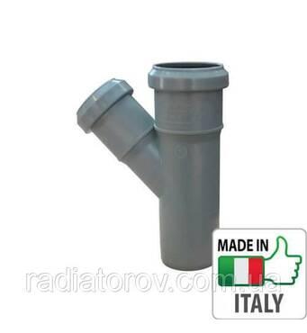 Тройник переходной PPR Ø 75х50 45° для внутренней канализации Valsir Италия
