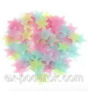 Набор разноцветных светонакопительных звезд.