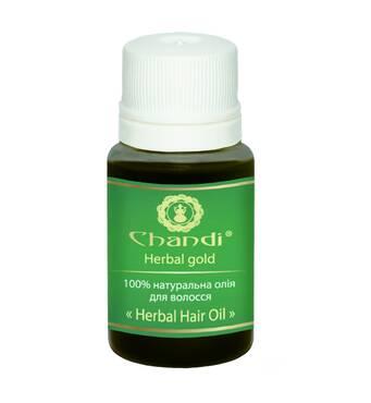 """Натуральна олія для волосся """"Трав'яне"""" Chandi, 10мл"""