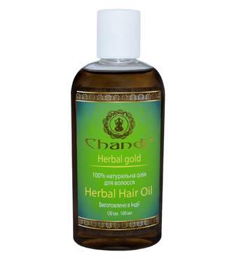 """Натуральна олія для волосся """"Трав'яне"""" Chandi 200мл"""