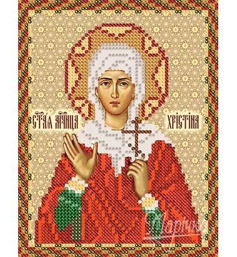 Заготовка для вишивки ікони Святої Христини