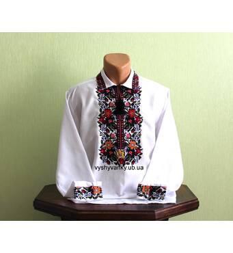 """Вишукана вишита сорочка для чоловіка """"Галич"""". Ручна робота"""