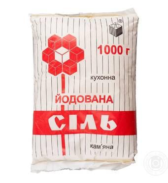 Сіль йодована фасована по 1 кг, мішок 25 кг купити у Львові