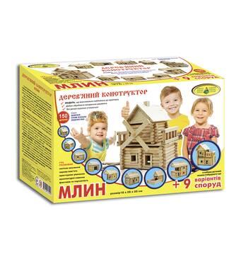 Деревянный конструктор Млин (118 дет.)