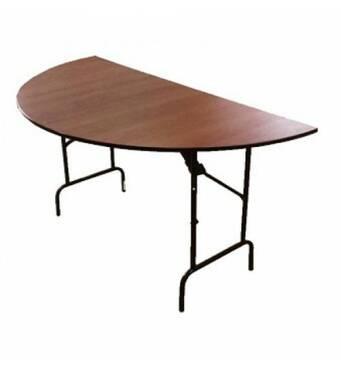 Стол складной полукруглый ДСП (1500х750х750) мм. Без усилительной рамы.