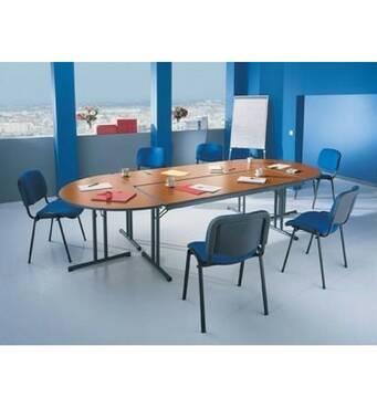 Доладні столи для конференц-залу. Зовнішні габарити конфігурації : 3500 х 1700 х 750 мм Кількість посадочних місць 12.