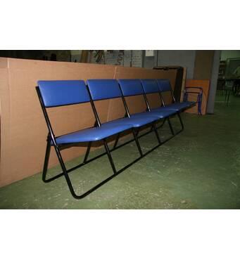 """Складаний секційний стілець """"Стэлс"""" для актових залів і конференц залів"""