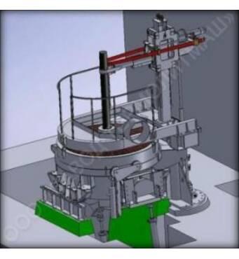 Дуговая сталеплавильная печь постоянного тока ДППТ 0,5 купить в Украине