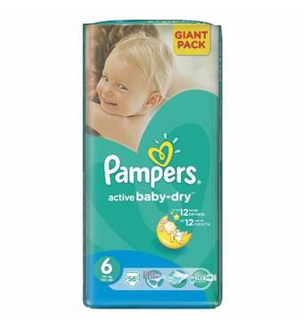Подгузники Pampers Active Baby 6-ка ( 16+ кг ) 56 шт