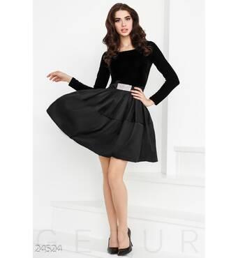 Пышное бархатное платье (черный)