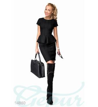 Мягкий теплый костюм из стеганой вискозы (черный)