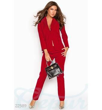 Классический деловой костюм (красный)