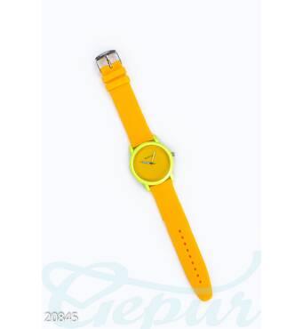 Яркие силиконовые часы (желтый- неон)