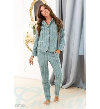 Теплая женская пижама (мультиколор)