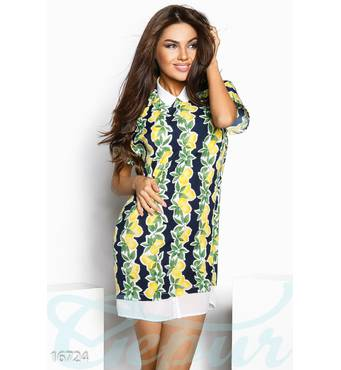Яркое лимонное платье (мультиколор)