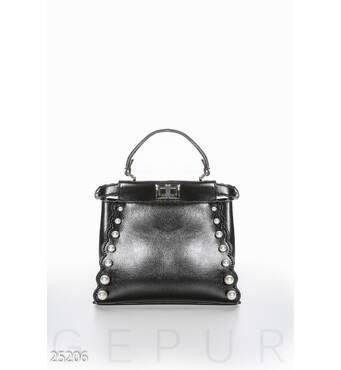 Двусторонняя женская сумка (черный)
