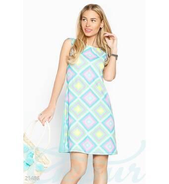 Платье яркий принт (мультиколор)