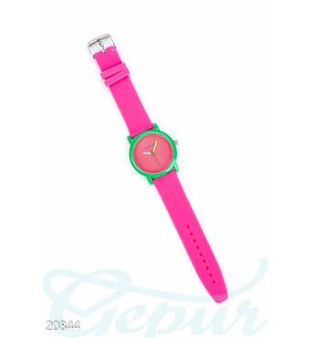 Яркие силиконовые часы (малиновый)
