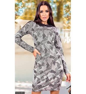 Платье 4376148-2 серый Осень-Зима 2017 Украина